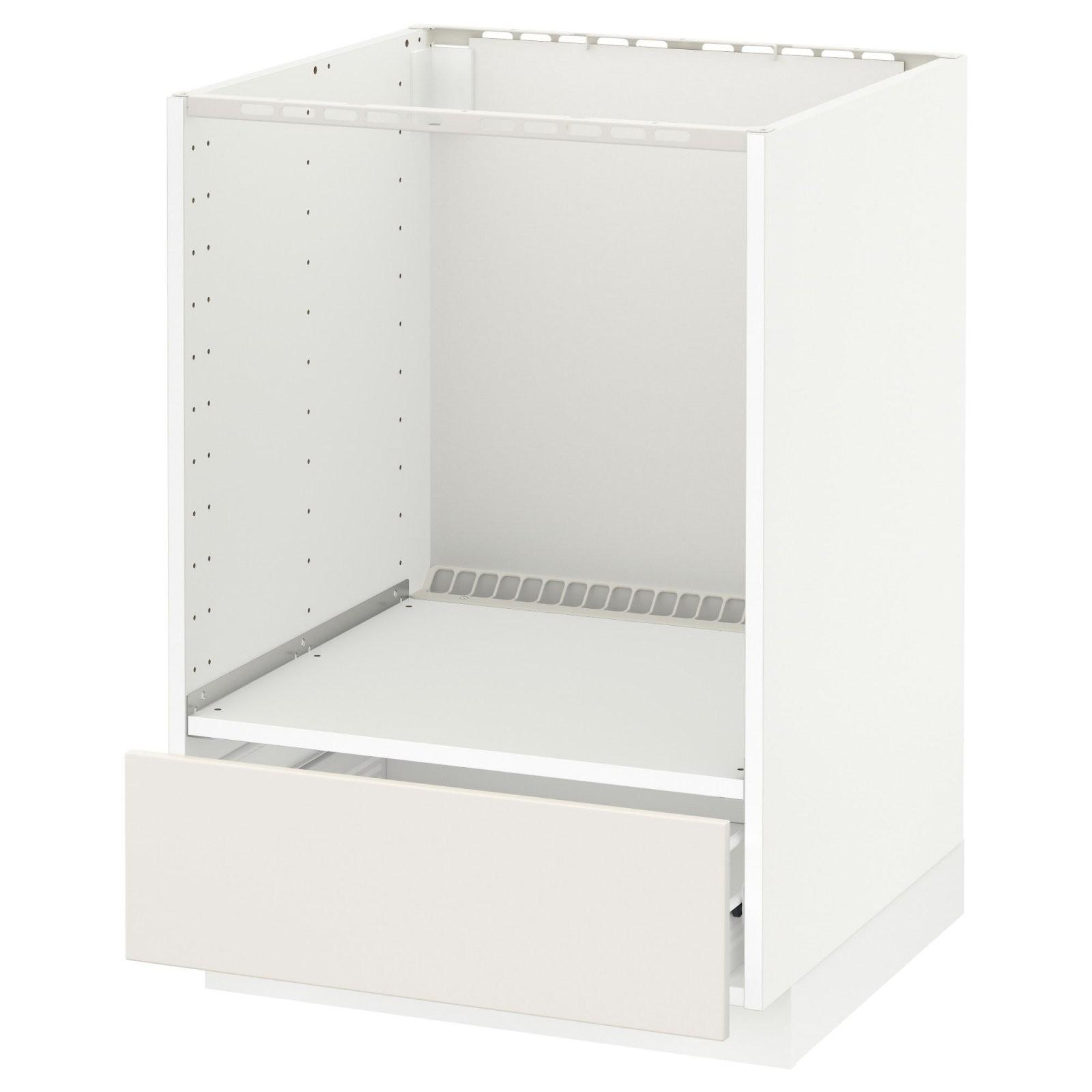Metod  Förvara Unterschrank Für Ofen Mit Schubl  Weiß Veddinge von Schrank Für Einbauherd Selber Bauen Bild