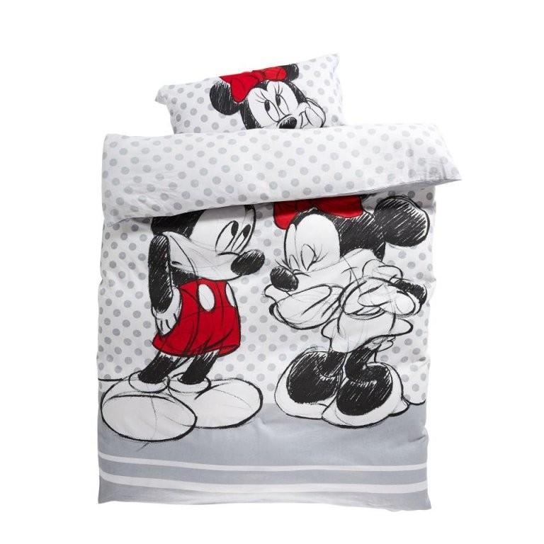 Mickey Maus Bettwäsche  Kinderbettwäsche Minnie  Mickey 135X200 Cm von Micky Und Minni Maus Bettwäsche Bild