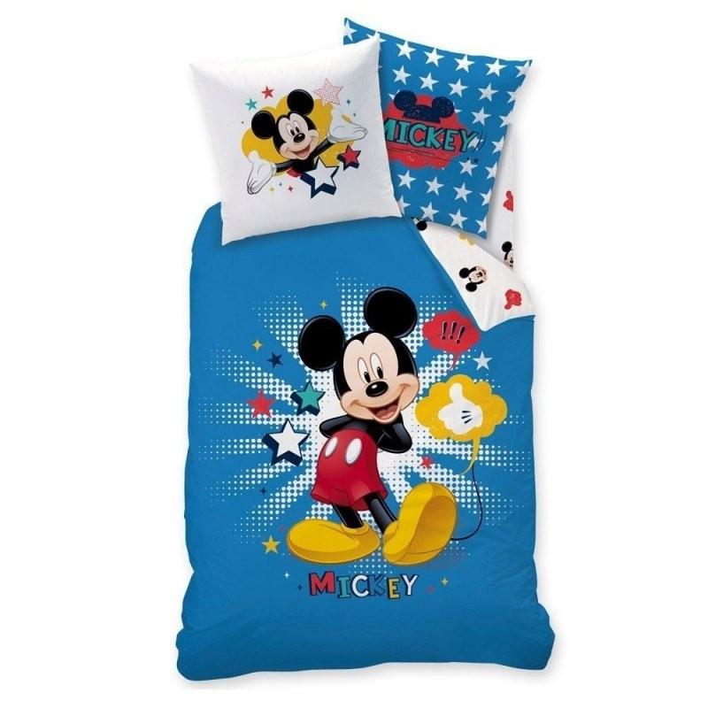 Micky Maus Kinder Bettwäsche · Mickey Mouse Star · Wende Motiv Mit von Micky Und Minni Bettwäsche Bild