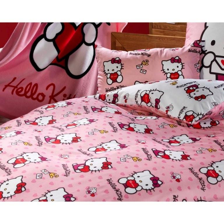 Microfaserbettwäsche Hello Kitty (100 X 135 Cm)  Dänisches von Hello Kitty Bettwäsche 100X135 Bild