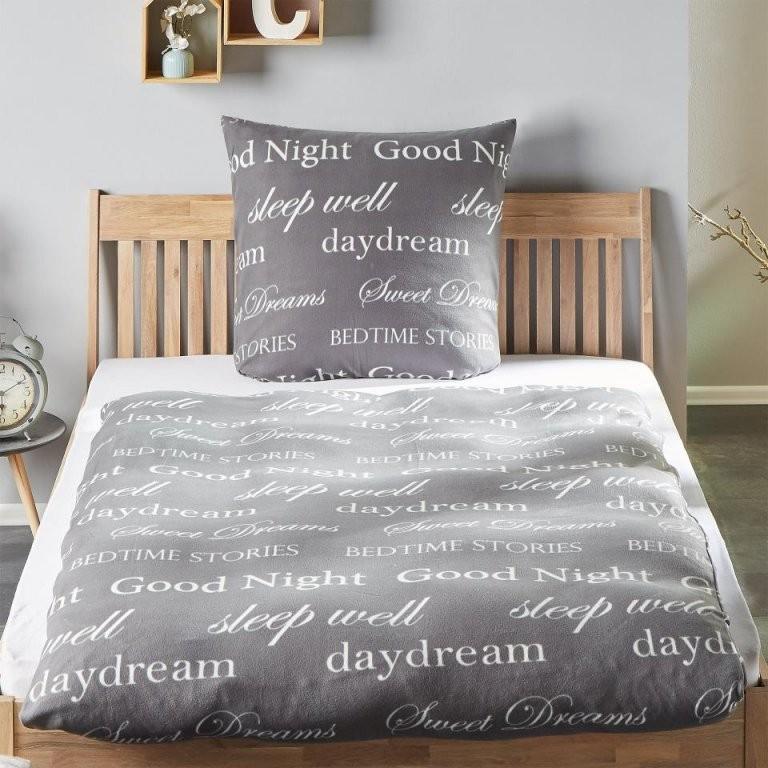 Microfleecebettwäsche Good Night (135X200 Grau)  Dänisches von Bettwäsche Dänisches Bettenlager Bild