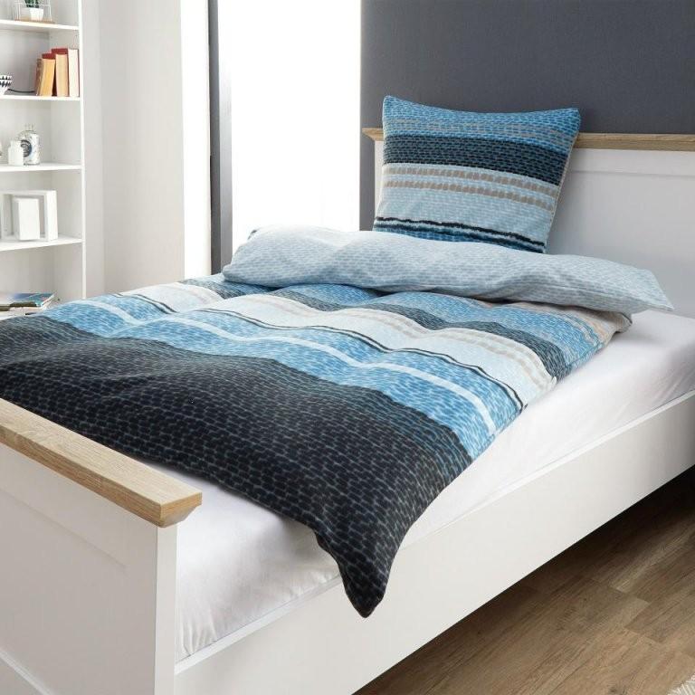 Microfleecebettwäsche Struktur (135X200 Blauweiß)  Dänisches von Bettwäsche Dänisches Bettenlager Bild