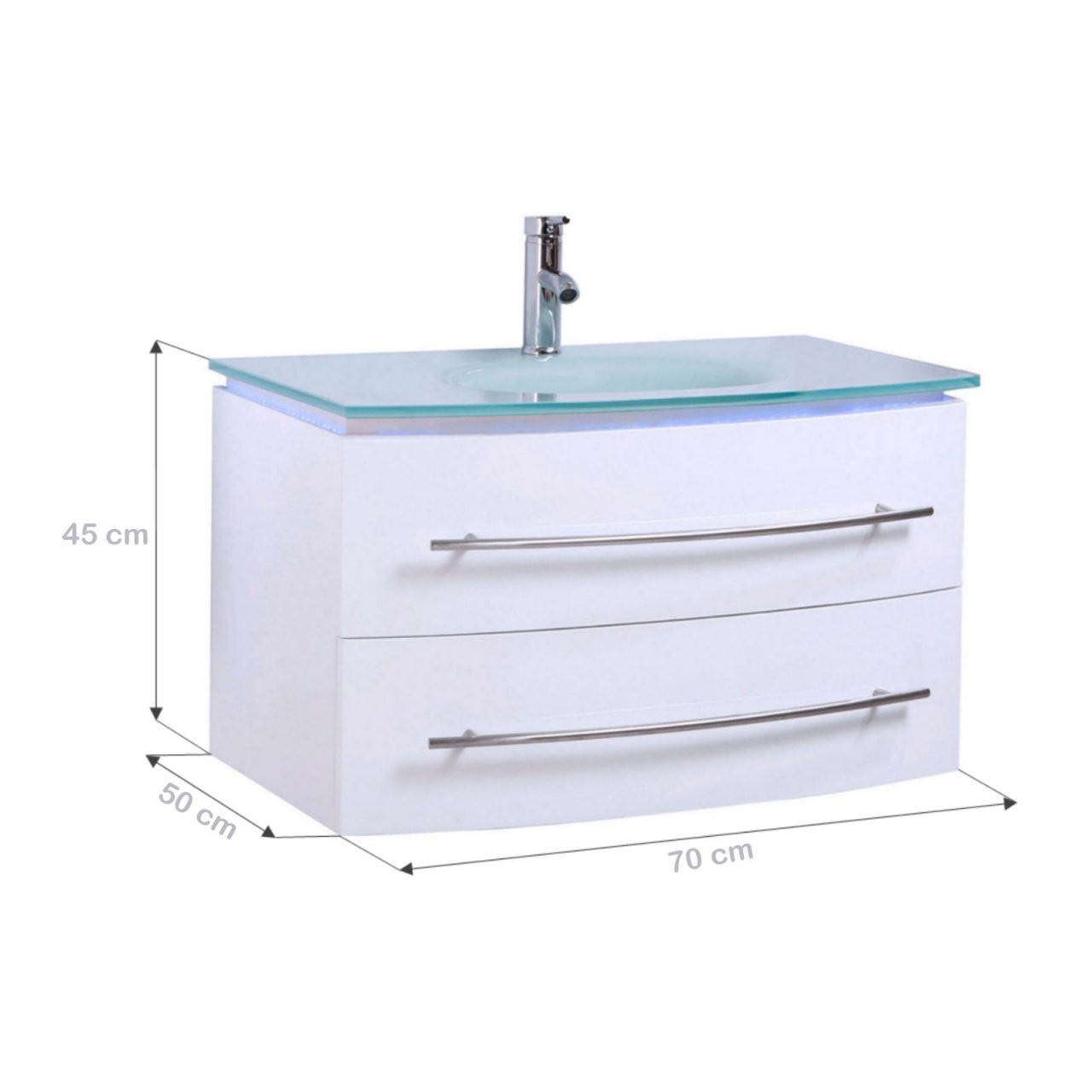 Midori© Badmöbel Badezimmermöbel Unterschrank Waschtisch Weiß von Waschbecken Mit Unterschrank 50 Cm Photo