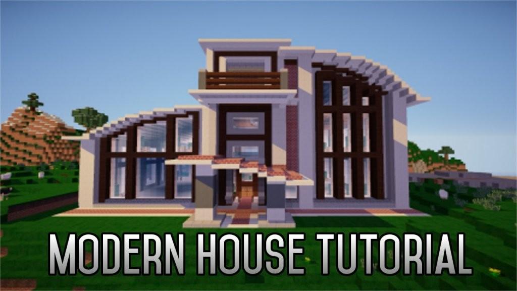 Minecraft How To Build A Modern House 18 Part 1  Youtube von Minecraft Modern Mansion Blueprints Bild