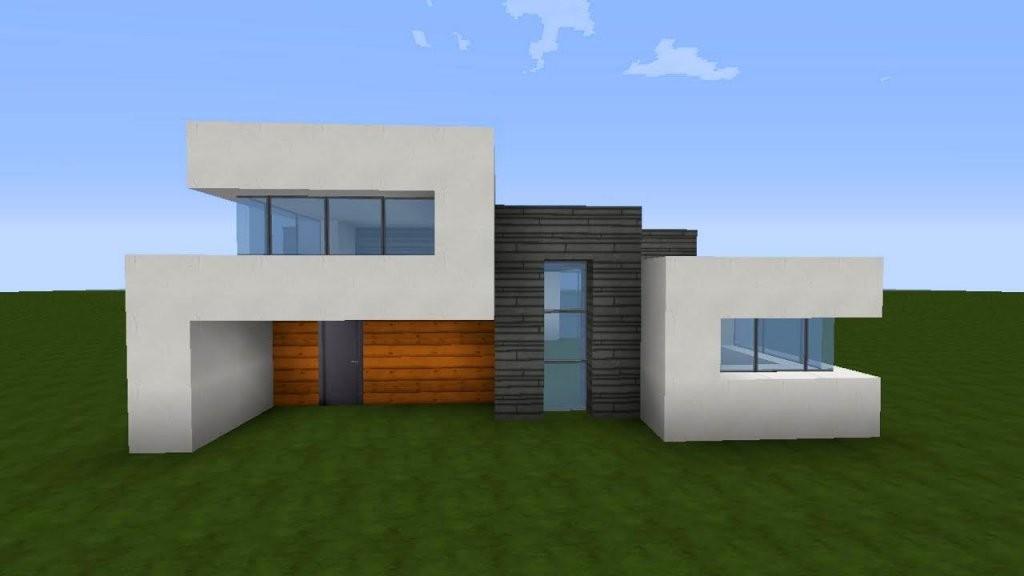 Minecraft Modernes Haus Akazieweißgrau Bauen  Tutorialanleitung von Minecraft Modernes Haus Bauen Anleitung Photo