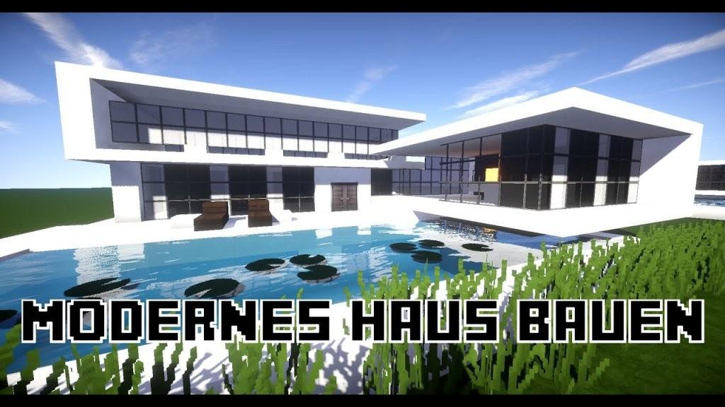 Minecraft Modernes Haus Bauen 23X20  Tutorialanleitung 17 2016 von Minecraft Baupläne Zum Nachbauen Photo