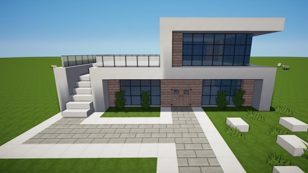 Minecraft Modernes Haus Bauen Tutorial [Haus 121]  Youtube von Minecraft Modernes Haus Bauen Anleitung Photo