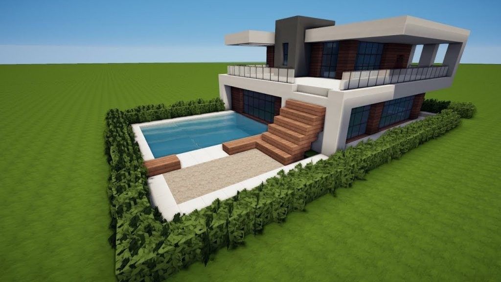 Minecraft Modernes Haus Bauen Tutorial [Haus 92]  Youtube von Minecraft Häuser Zum Nachbauen Anleitung Bild