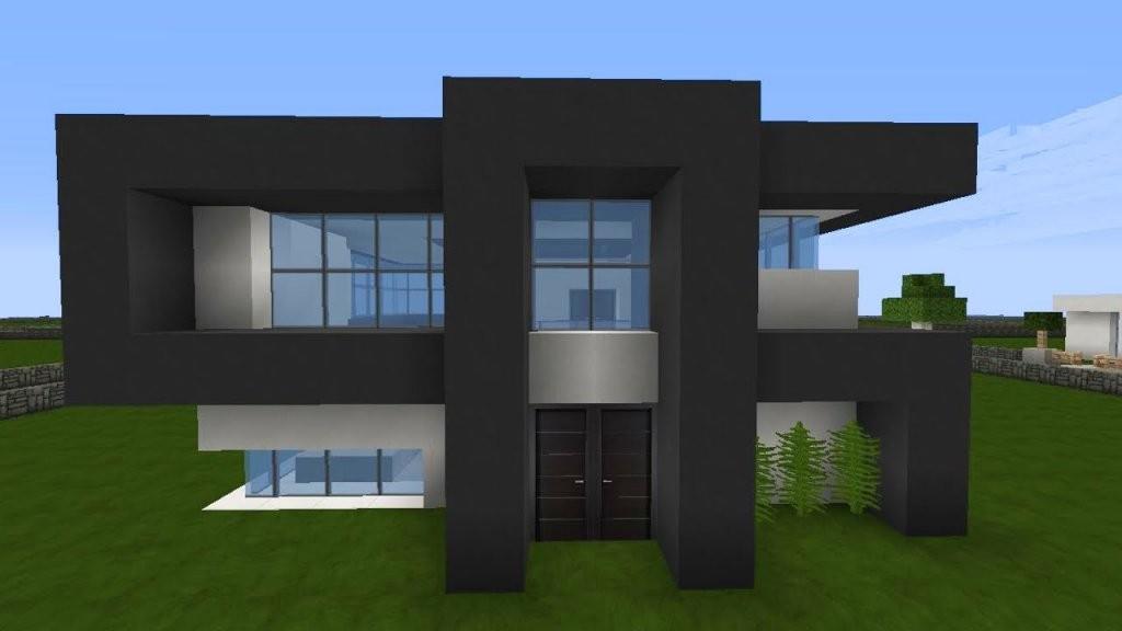 Minecraft Modernes Haus Mittwoch  Grauweiß Bauen  Tutorial von Minecraft Häuser Zum Nachbauen Anleitung Bild