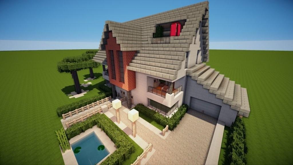 Minecraft Modernes Zweifamilienhaus Bauen Tutorial [German]  Youtube von Coole Minecraft Häuser Zum Nachbauen Bild