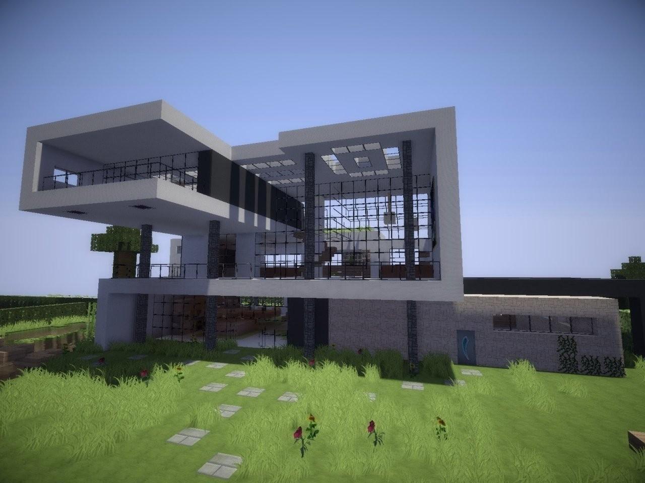 Minecraft Villa Modern Bauplan von Minecraft Haus Bauen Plan Bild