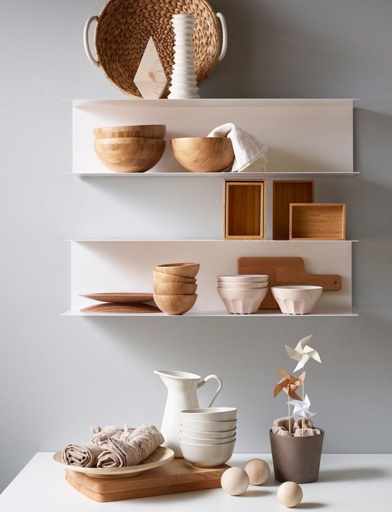 Minimalistisches Wandregal Aus Stahl Ikea Botkyrka  Interior von Ikea Wandregal Weiß Küche Bild