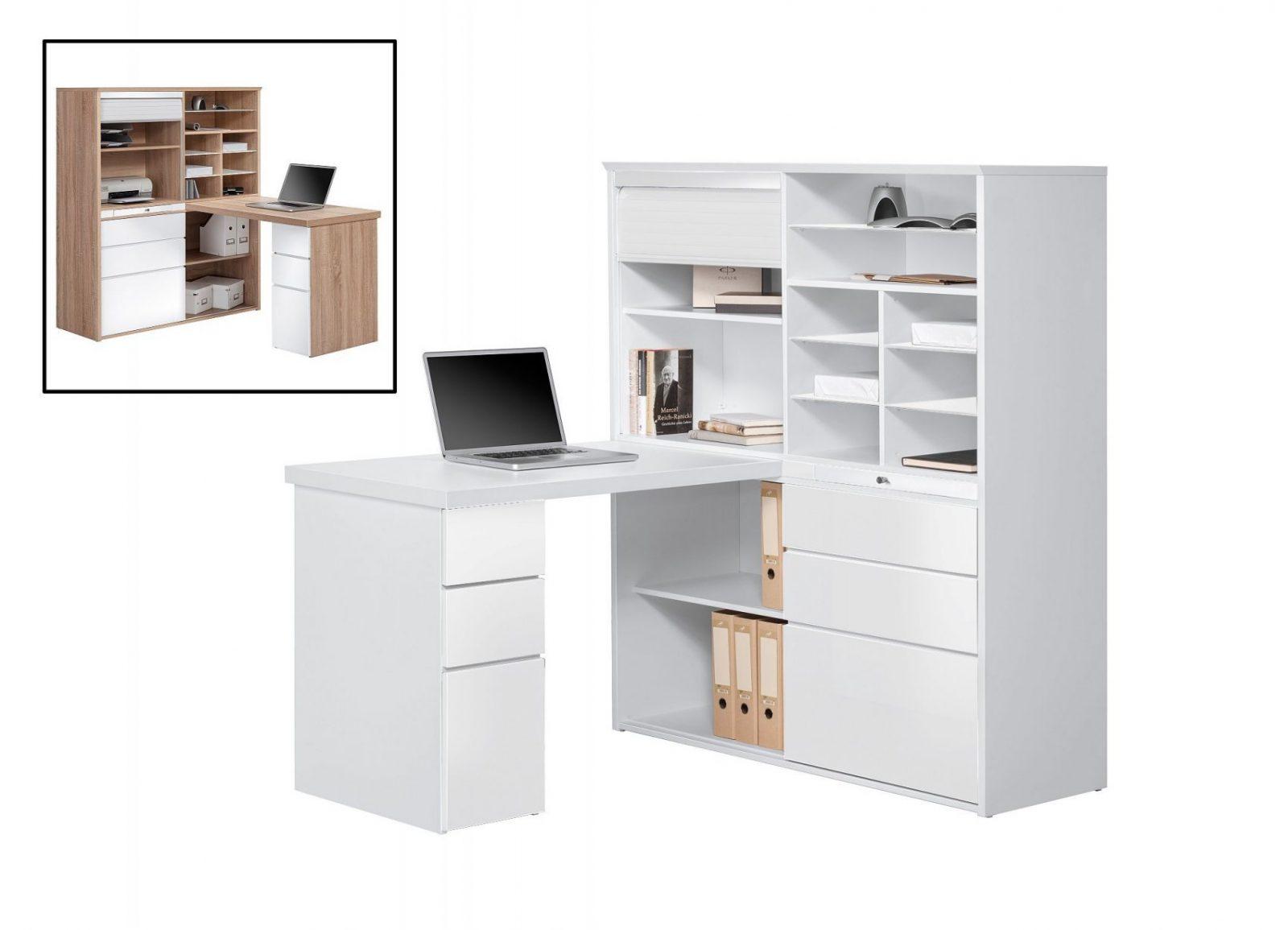 Minioffice  Büroschrank Mit Integriertem Schreibtisch Modmj128 Icy von Schrank Mit Integriertem Schreibtisch Photo