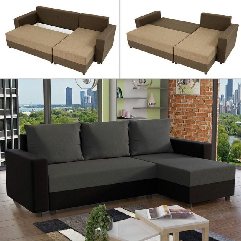 Mirjan24 Ecksofa Vibo Stilvoll Eckcouch Mit  Real von Couch Mit Bettkasten Und Schlaffunktion Photo