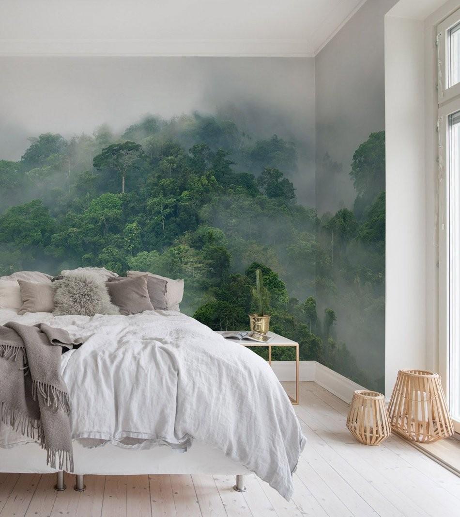 Misty Forest In 2019  Home Sweet Home  Schlafzimmer Tapete von Wandgestaltung Mit Tapeten Wohnzimmer Bild
