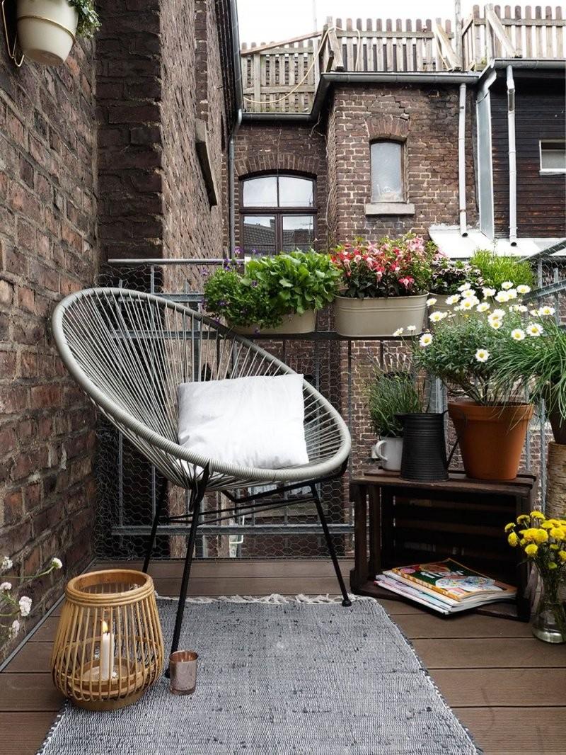 Mit Diesen Tipps Wird Ein Kleiner Balkon Zur Stadtoase  Balkon von Balkon Ideen Kleiner Balkon Bild
