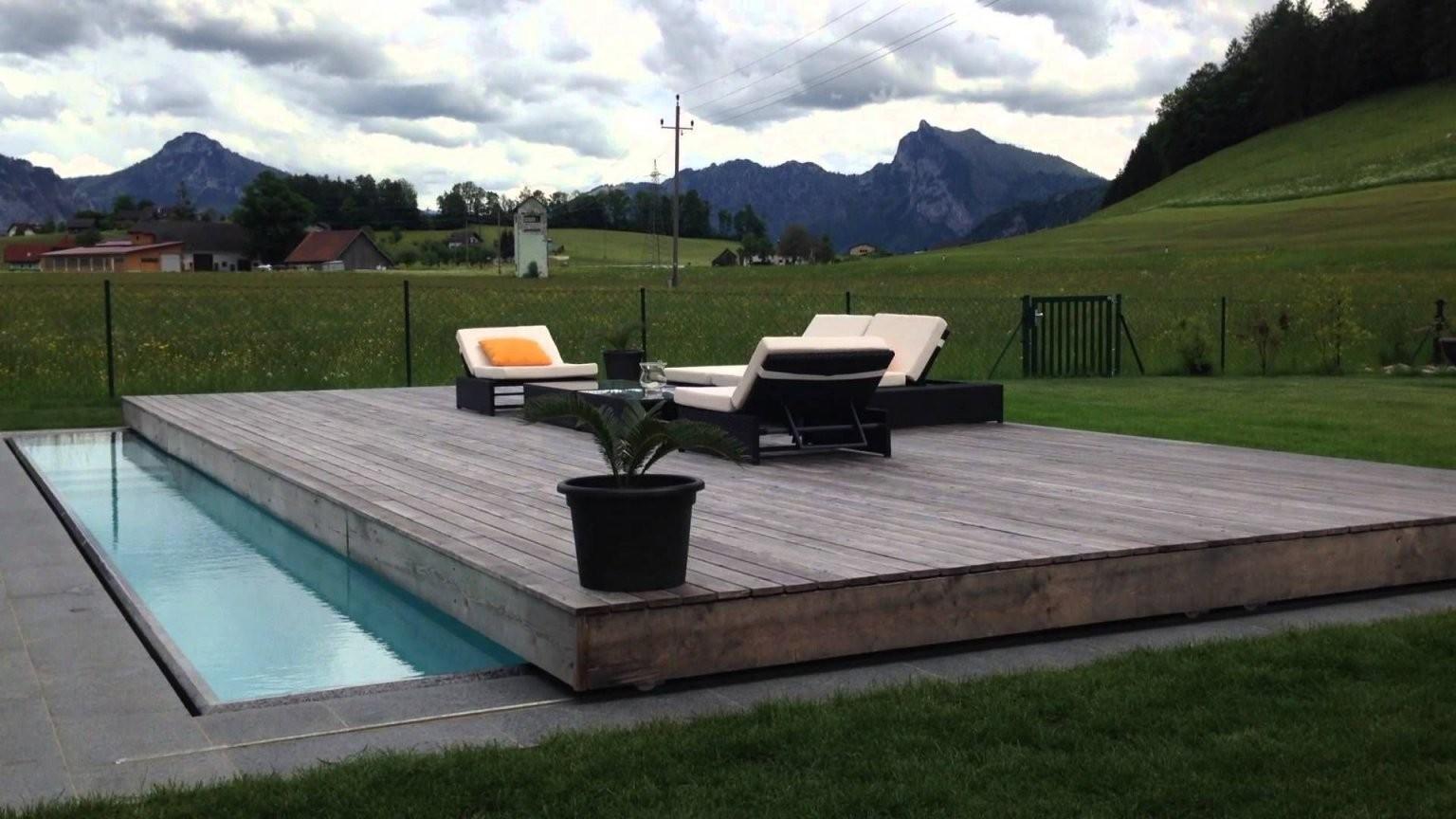 Mit Unserer Poolabdeckung Setzen Wir Neue Maßstäbe Design Trifft von Pool Winterabdeckung Selber Bauen Photo