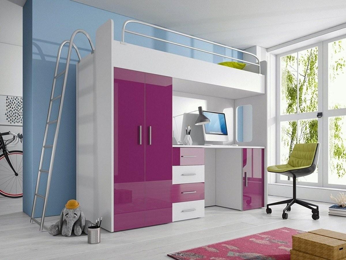 Möbel Set 'smart' Für Kinderzimmer  Jugendzimmer  Hochbett von Kinderbett Mit Schreibtisch Und Kleiderschrank Photo