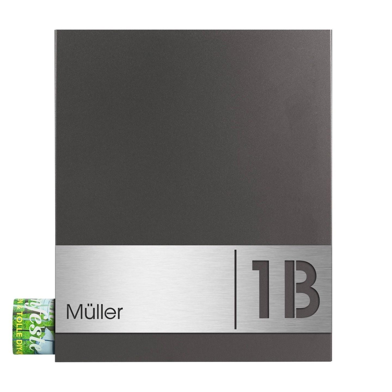Mocavi Box 111 Briefkasten Incl Graviertem Name Und Hausnummer Mit von Edelstahl Briefkasten Mit Hausnummer Bild