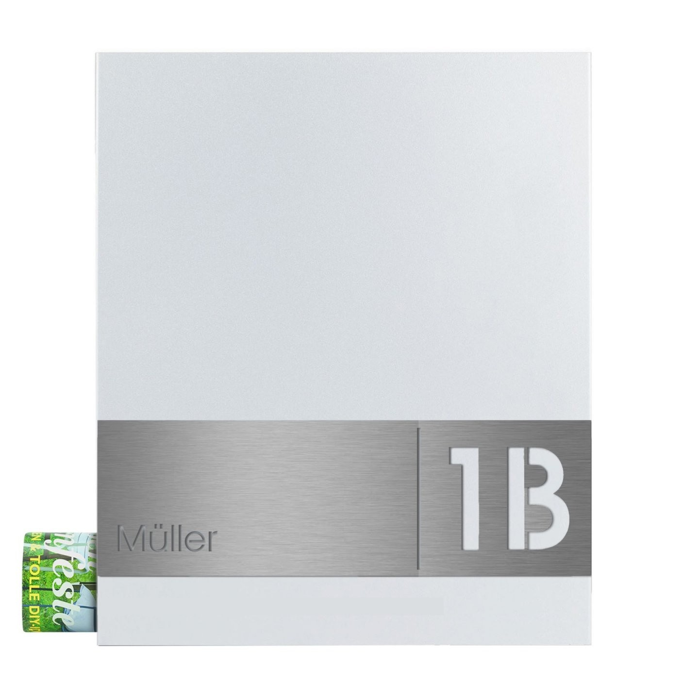 Mocavi Box 111 Briefkasten Weiß Mit Zeitungsfach Hausnummer Und von Edelstahl Briefkasten Mit Hausnummer Photo