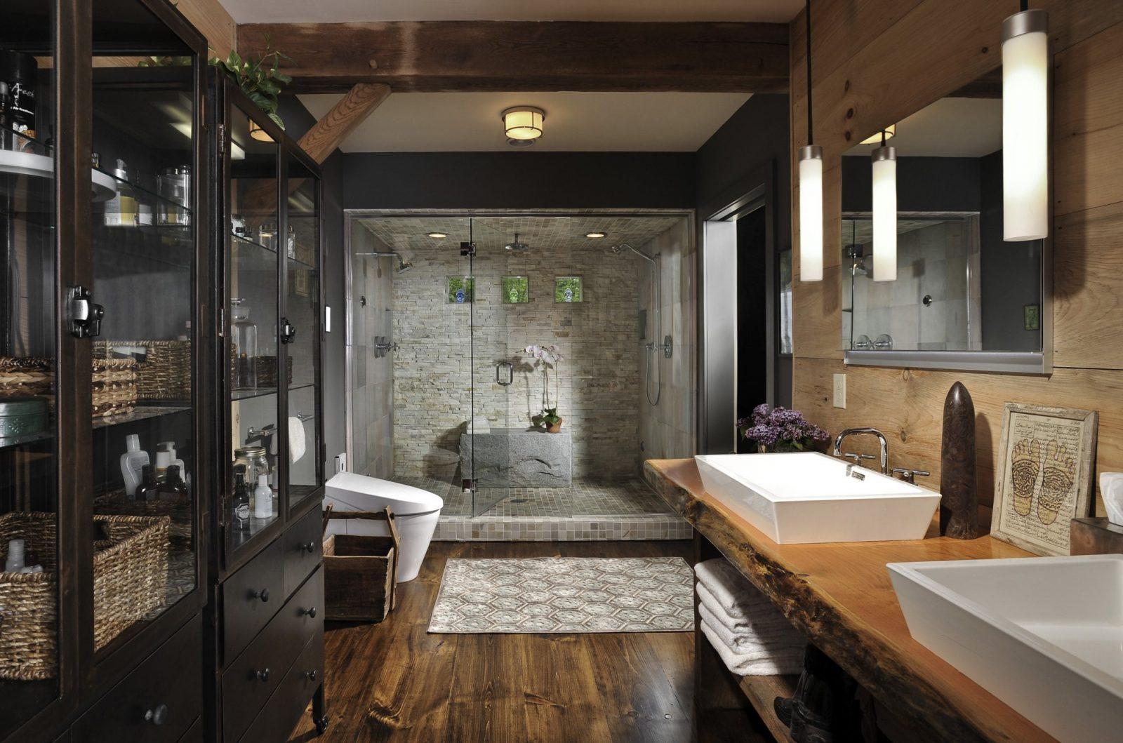 Moderne Badezimmer Im Vintage Stylebadezimmer Ideen Für Retro Bad von Moderne Bäder Mit Holz Bild