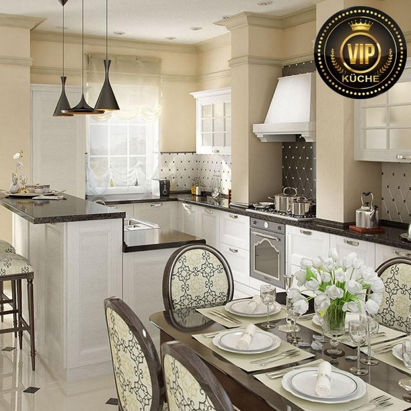 """Moderne Landhausküche """"arle""""  Echtholzküche  Premium Qualität von Luxus Küche Mit Kochinsel Photo"""
