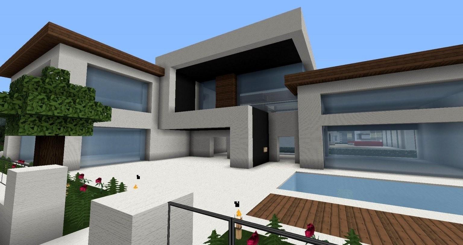 Moderne Minecraft Häuser Wolkenkratzer  Modernes Haus  Best von Minecraft Häuser Modern Zum Nachbauen Photo