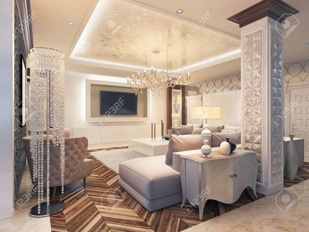 Moderne Wohnzimmer In Weißen Farben Mit Integrierter Lagerung Für von Grosse Bilder Fürs Wohnzimmer Photo