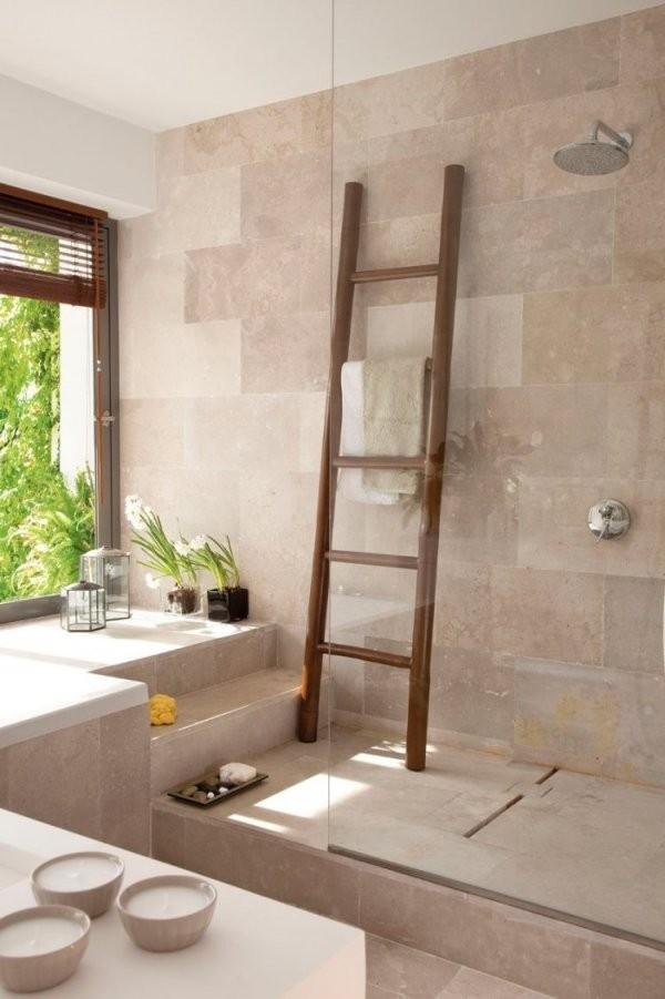 Modernebadgestaltungbodengleicheduscheglasabtrennungfliesen von Fliesen In Steinoptik Für Dusche Photo