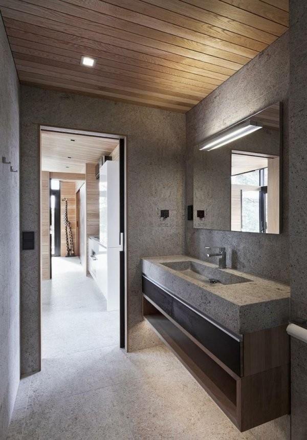 Modernes Bad Mit Holz – 27 Ideen Für Möbel Boden Wand  Decke von Moderne Bäder Mit Holz Photo