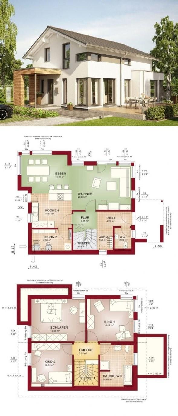 Modernes Einfamilienhaus Design Mit Satteldach Architektur von Bien Zenker Edition 1 Bild
