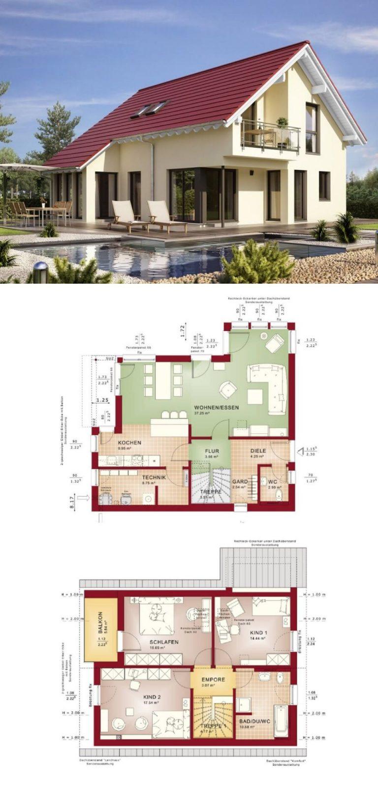Modernes Haus Mit Satteldach  Einfamilienhaus Edition 1 V5 Bien von Bien Zenker Edition 1 Bild