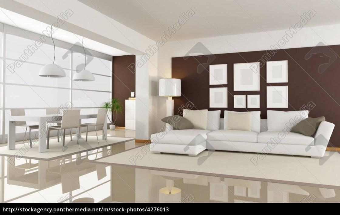 Modernes Wohnzimmer Mit Essbereich  Rendering  Lizenzfreies Bild von Modernes Wohnzimmer Mit Essbereich Photo