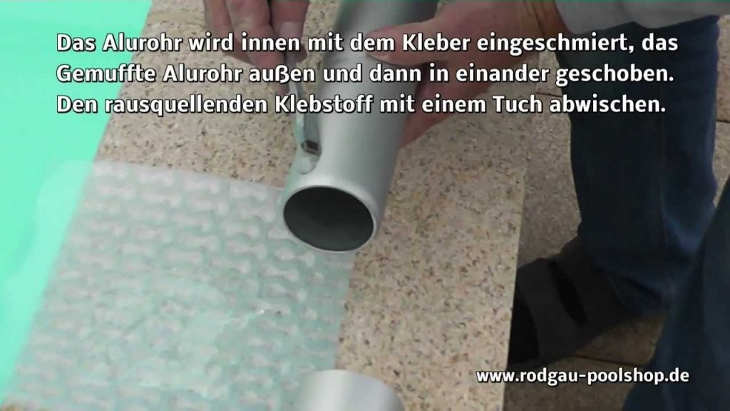 Montage Einer Aufrollvorrichtung Für Luftpolster Poolabdeckungen von Aufblasbare Poolabdeckung Selber Bauen Bild
