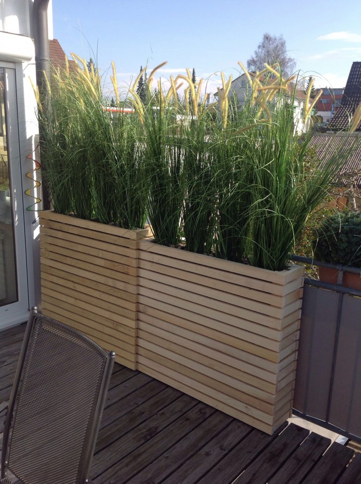 Mooie Plantenbakken Om Bamboe Of Siergras In Te Doen Voor Een Mooie von Garten Sichtschutz Mit Blumenkasten Photo