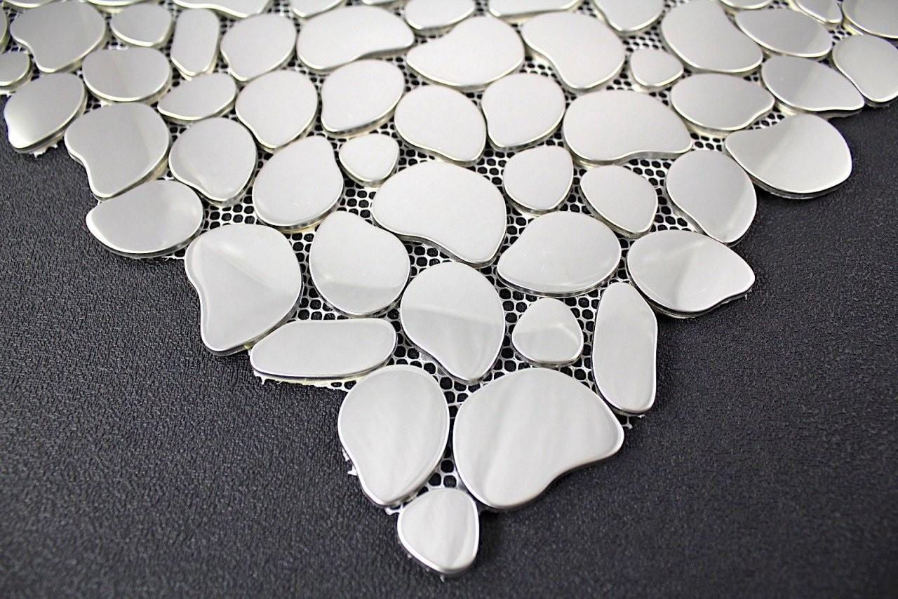Mosaik Fliesen Aus Edelstahl Fur Bodenund Wand Dusche Und von Mosaik Fliesen Dusche Boden Bild