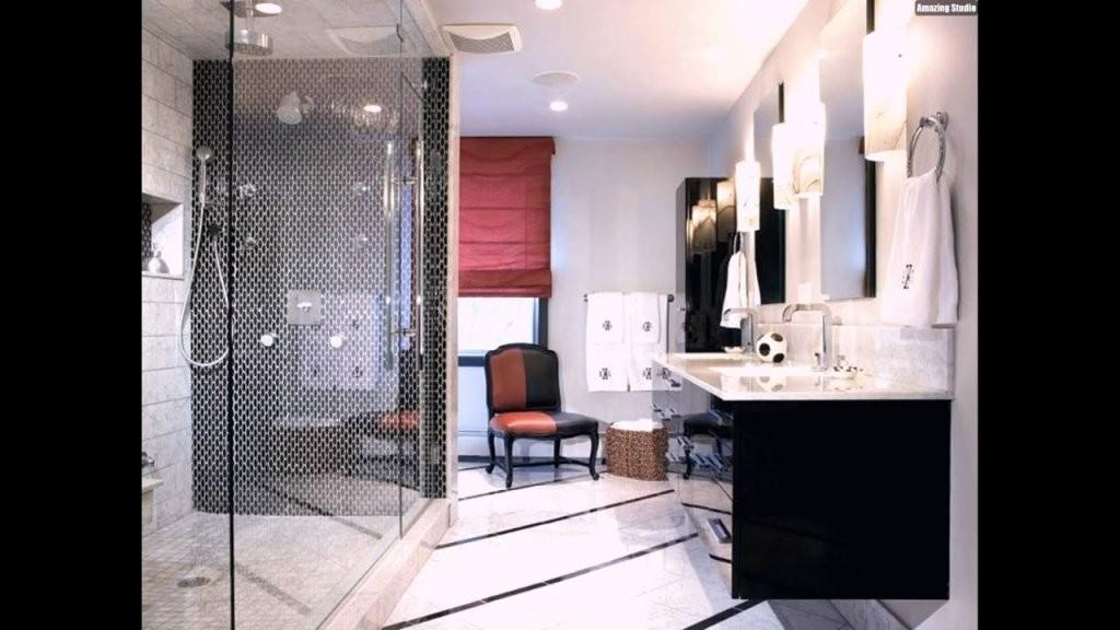 Mosaik Fliesen Badezimmer Dusche Schwarz Weiss Modern Waschtisch von Mosaik Fliesen Bad Grau Photo