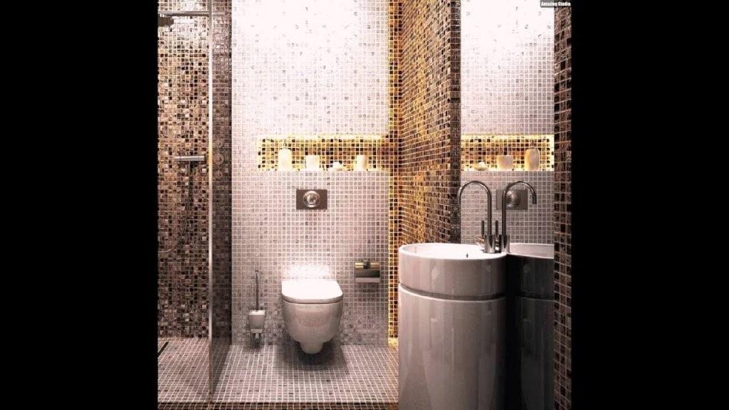 Mosaik Fliesen Badezimmer Waschkonsole Indirekte Beleuchtung Grau von Mosaik Fliesen Bad Grau Bild