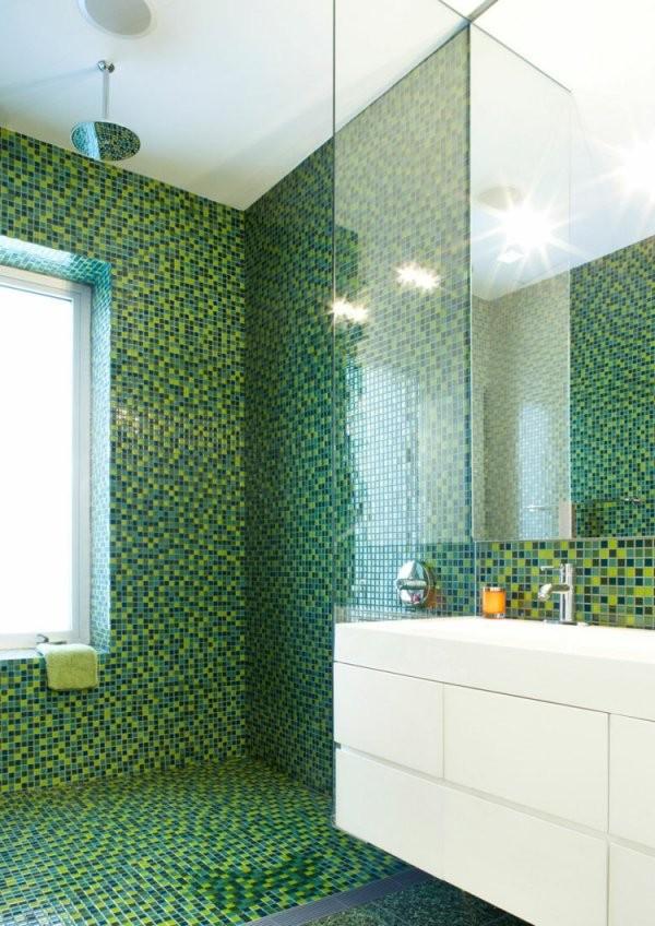Mosaik Fliesen Für Bad Ideen Für Betonung Einzelner Bereiche von Mosaik Fliesen Dusche Boden Bild