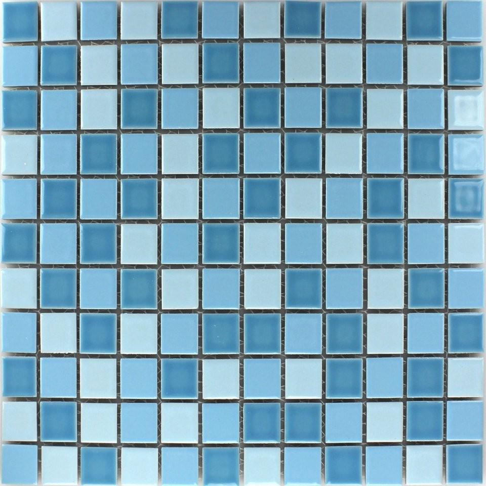 Mosaikfliesen Keramik Blau Mix 25X25X5Mm  Tm33025M von Mosaik Fliesen Türkis Bad Photo