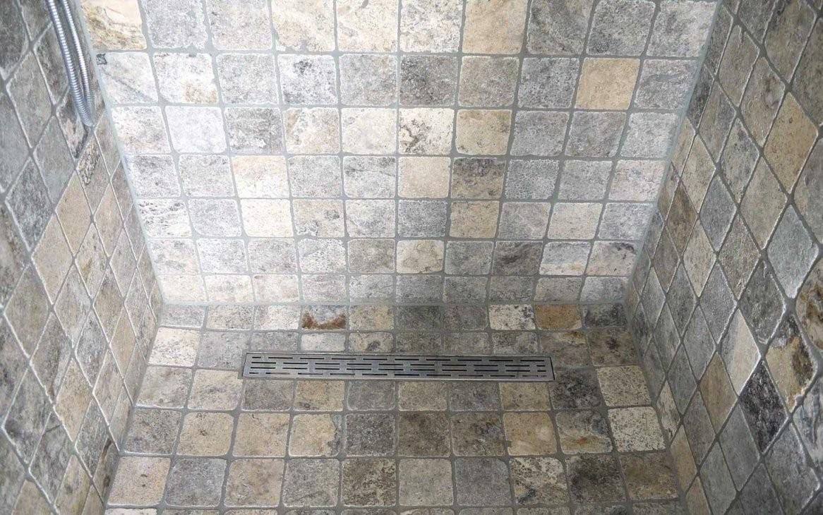 Mosaikfliesen Travertin Silber Grau 10X10 Kaufen von Mosaik Fliesen Dusche Reinigen Photo