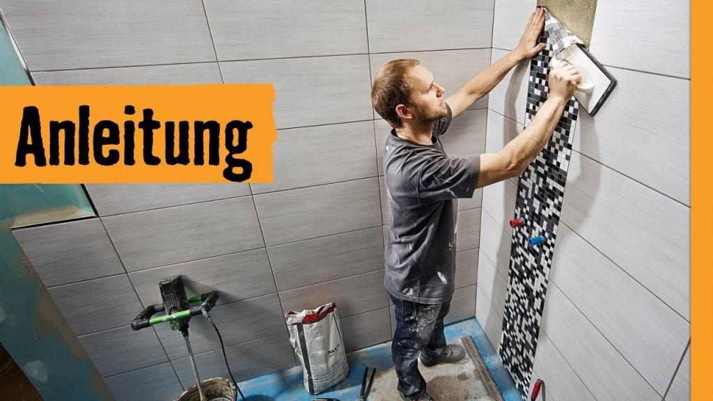 Mosaikfliesen Verlegen  Hornbach Meisterschmiede  Youtube von Mosaik Fliesen Dusche Reinigen Photo