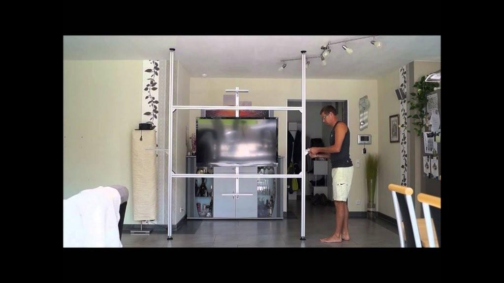 Multimedia Wand Tv Wand Raumteiler In 20 Min Aufgebaut Tv Säule von Raumteiler Wand Selber Bauen Bild