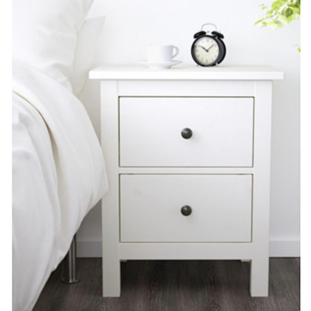 Nachttisch Schrank Ikea Hemnes Kommode Mit 2 Schubladen Weiß von Nachttisch Weiß Hochglanz Ikea Bild