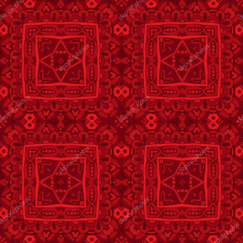 Nahtlose Rote Tapete Muster — Stockvektor © Astya 130400414 von Rote Tapete Mit Muster Bild
