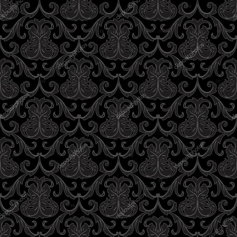 Nahtlose Schwarze Tapete Muster — Stockvektor © 100Ker 8407928 von Schwarze Tapete Mit Muster Photo