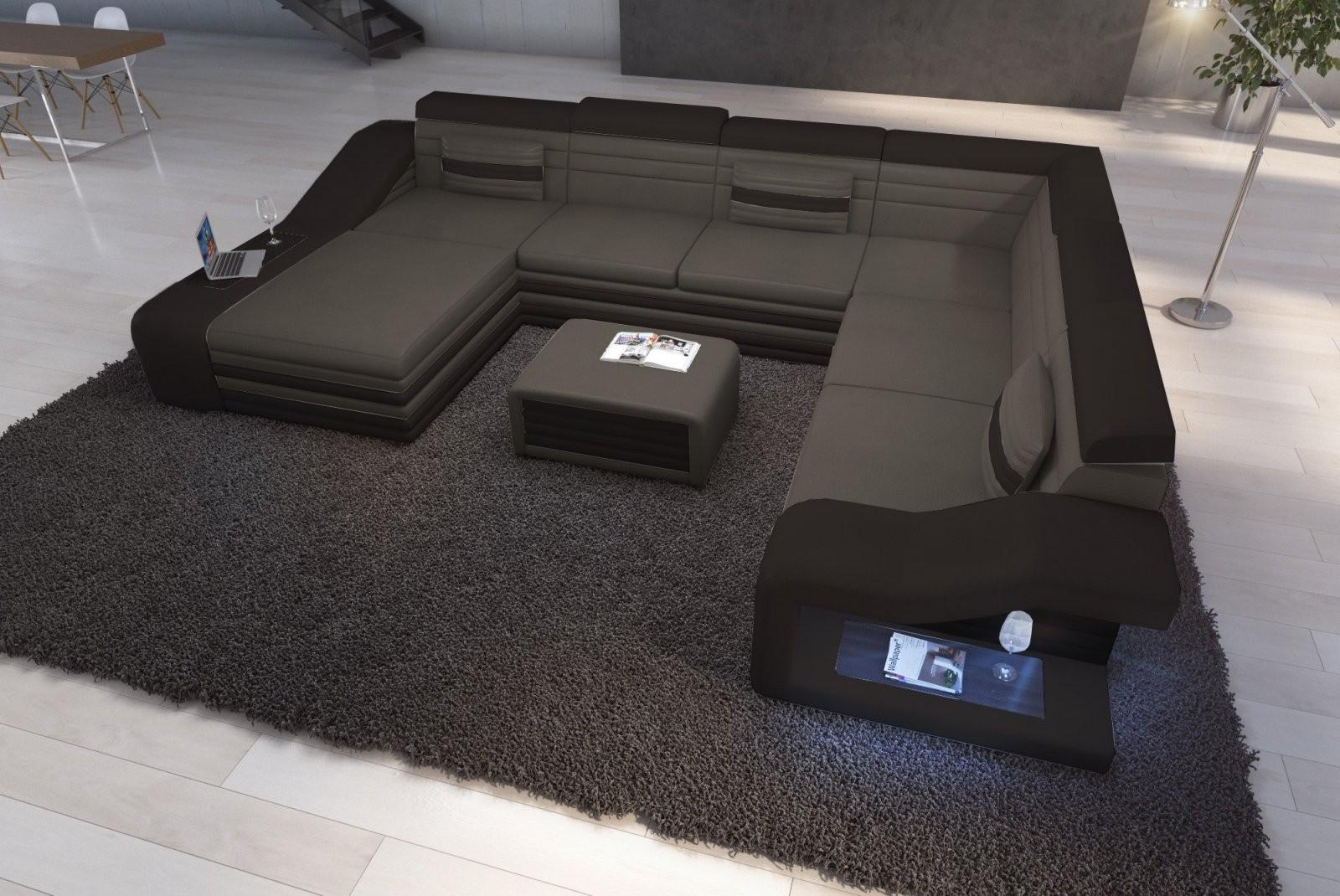 Nativo Designermöbel Deutschland  Ledersofa Mirage Xxl Günstig Kaufen von Couch Mit Led Beleuchtung Bild