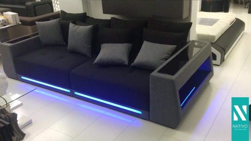 Nativo Möbel Schweiz  Big Sofa Vice Mit Led Beleuchtung  Youtube von Couch Mit Led Beleuchtung Bild