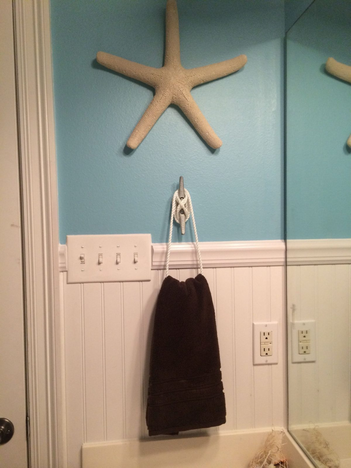 Nautical Or Beach Themed Bathroom Hand Towel Holder I Can Be Crafty von Beach Themed Towel Hooks Bild