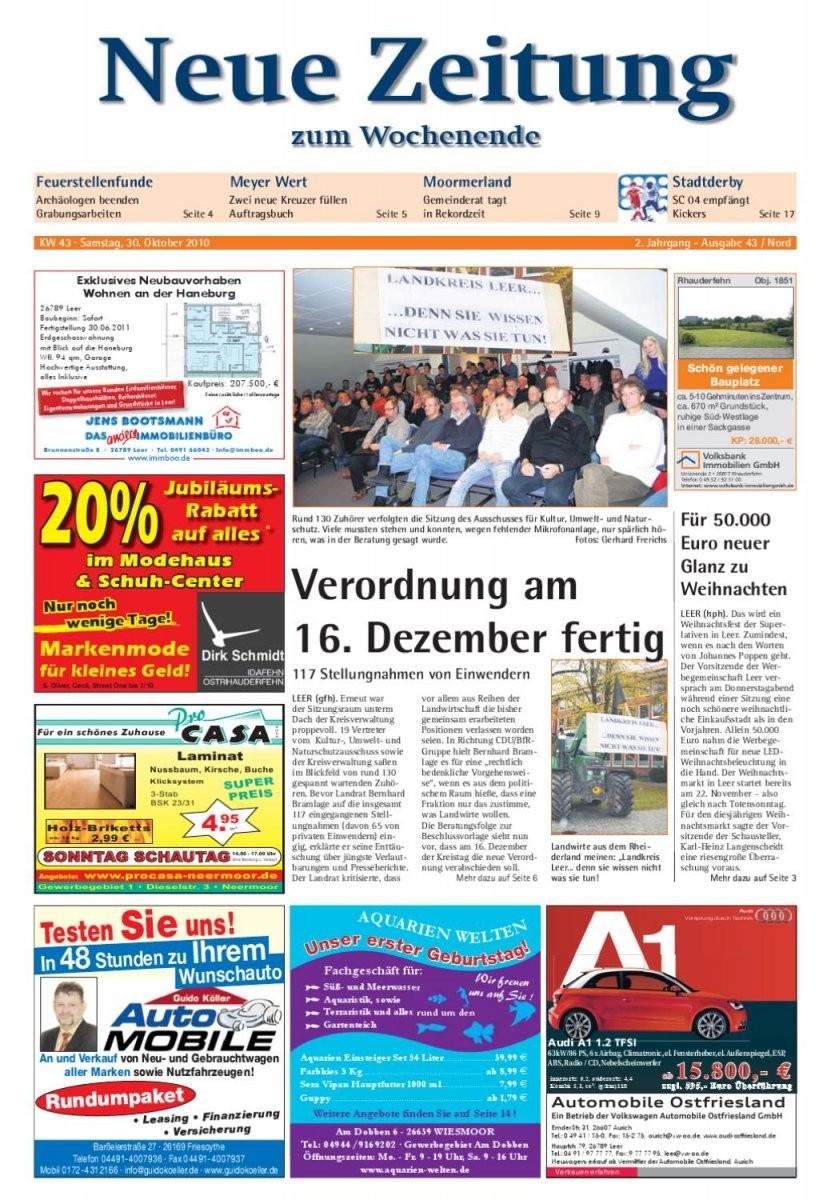 Neue Zeitung  Ausgabe Nord Kw 43Gerhard Verlag Gmbh  Issuu von Bella Donna Bettlaken Werksverkauf Bild